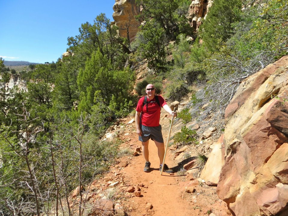 Dan on the trail.