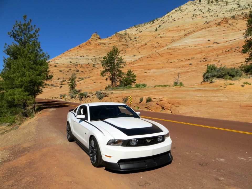 Thunder on the way to Bryce. We could have a whole album of this car on vacation.