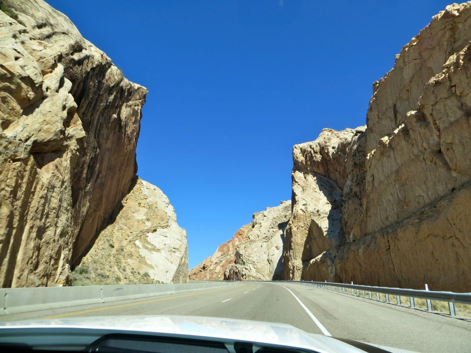The drive included narrow roads.