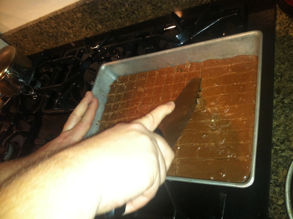 The pan of fudge.