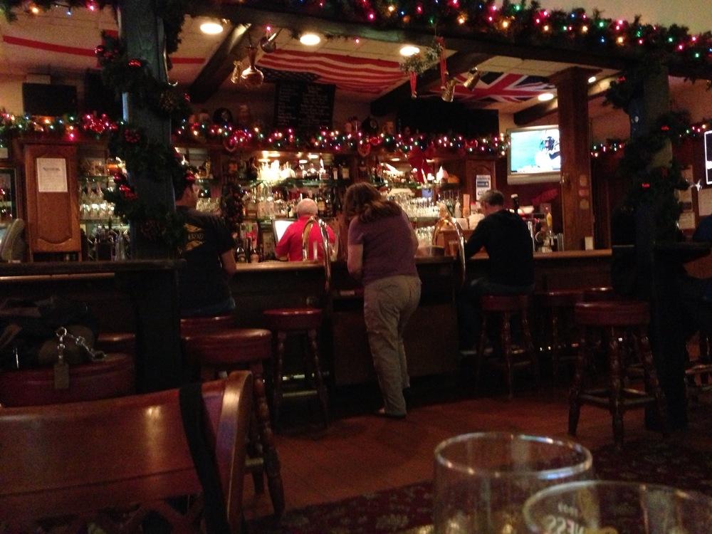 The bar at Robin Hood.