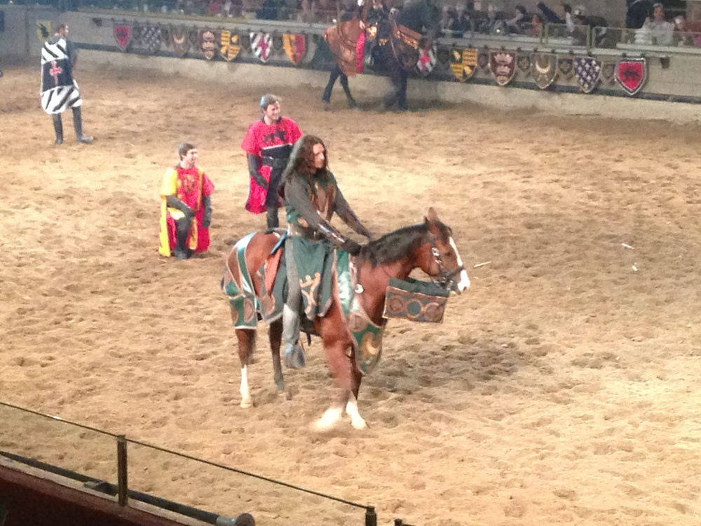 The green knight. He didn't win, but he was one of the last knights standing.