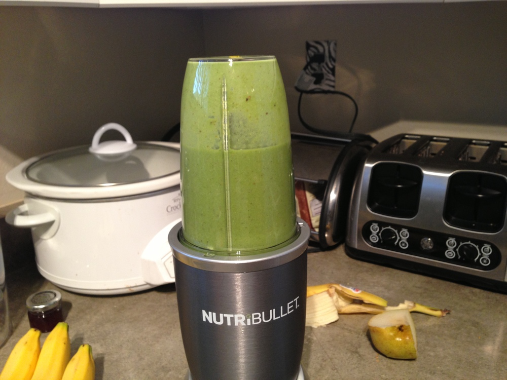 The Nutribullet in action.