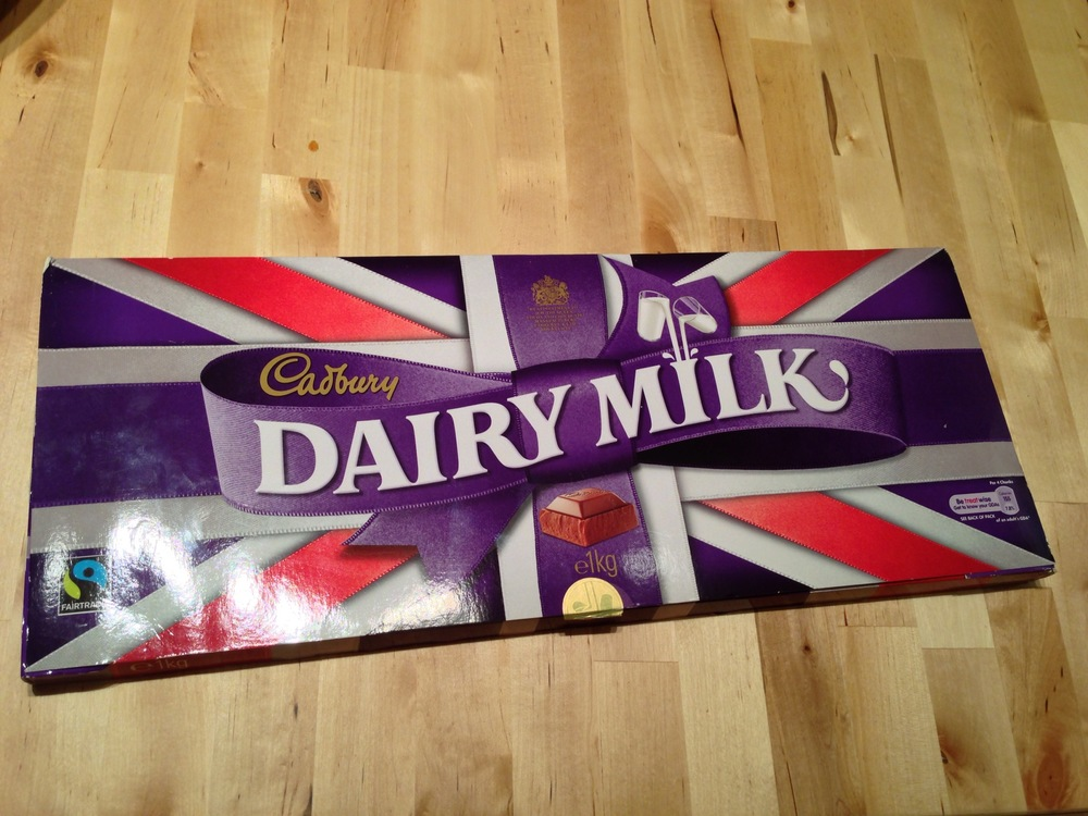One enormous bar of chocolate!