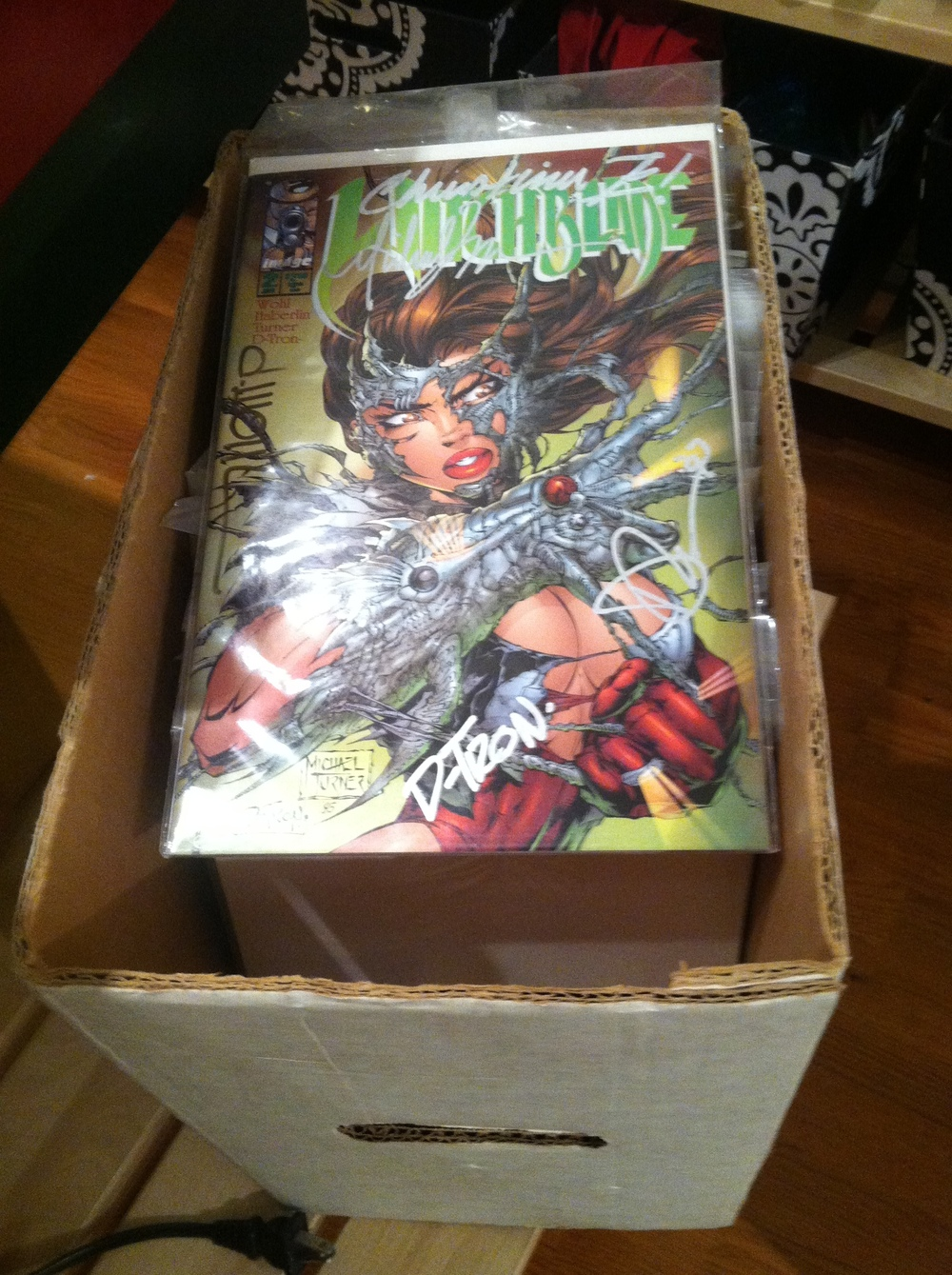 My Witchblade #2, signed by all of the key artists. At the time, I was very excited over this.
