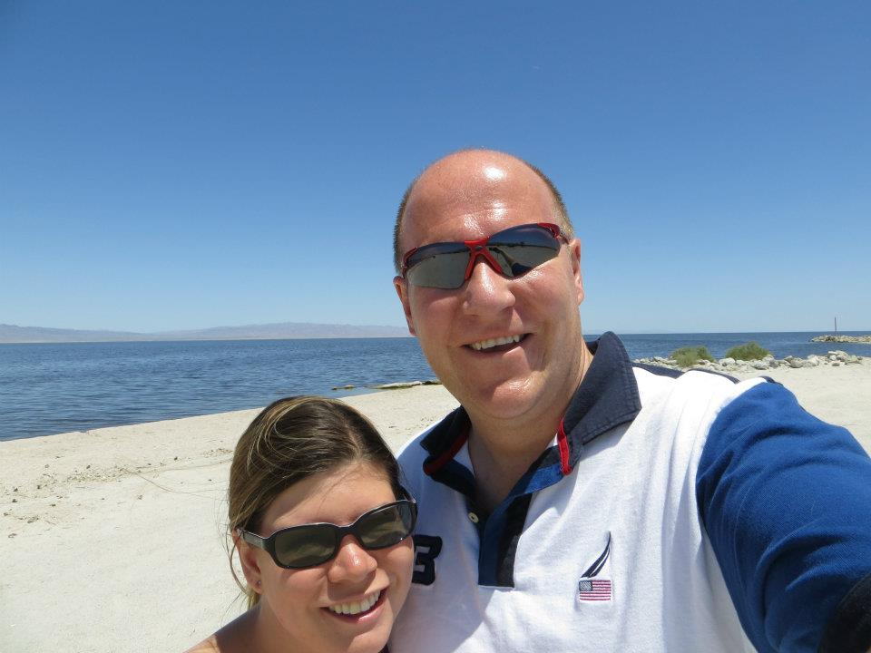 Dan and I at The Salton Sea.