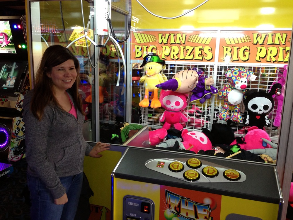 The biggest claw game that I have ever seen.