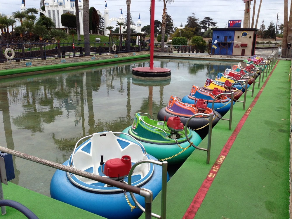 It was too cold for the bumper boats...darn, guess we will have to come back in the summer!