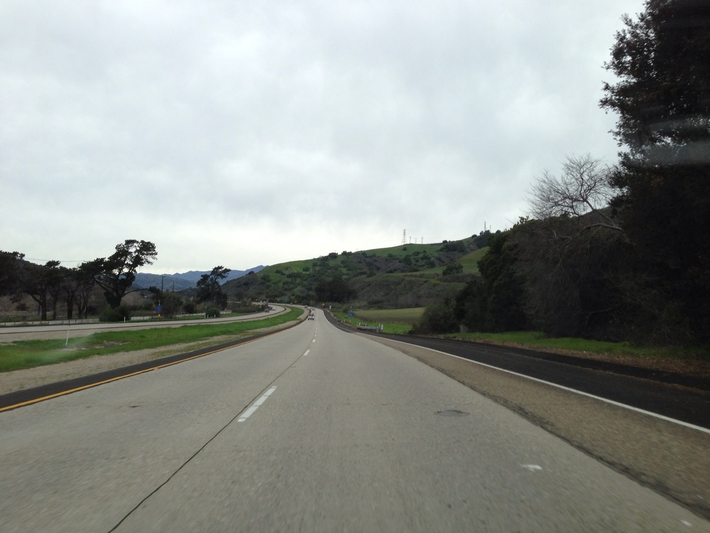 The pretty drive to Ojai.