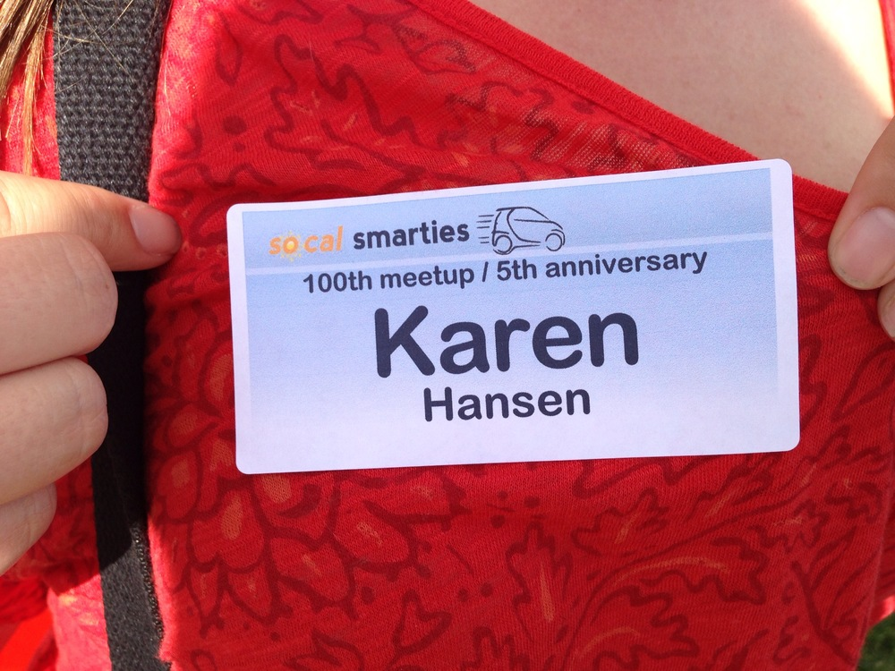 My event name badge.