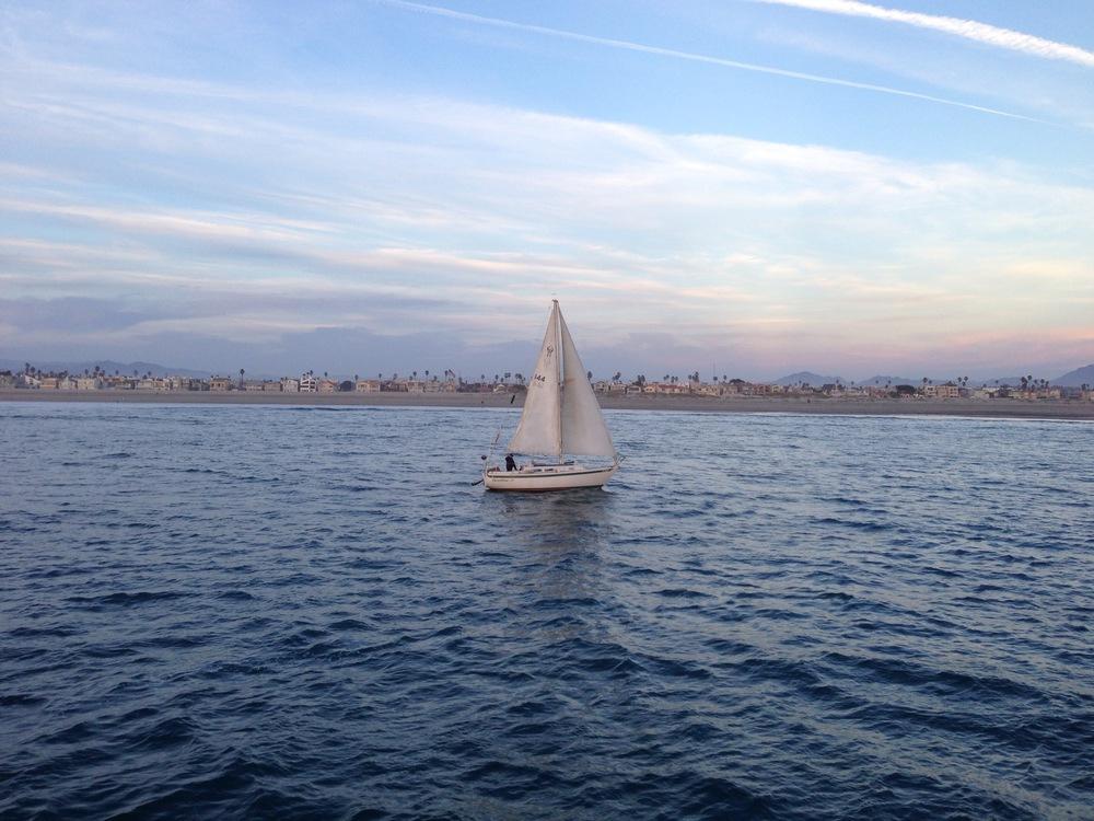 A sail boat