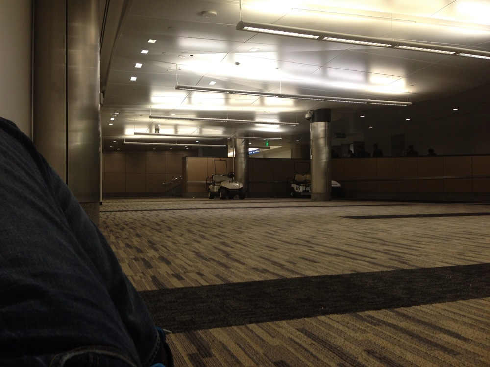 "We found this spot to wait and named it ""Dan's Nap Room"". LAX is the pits."