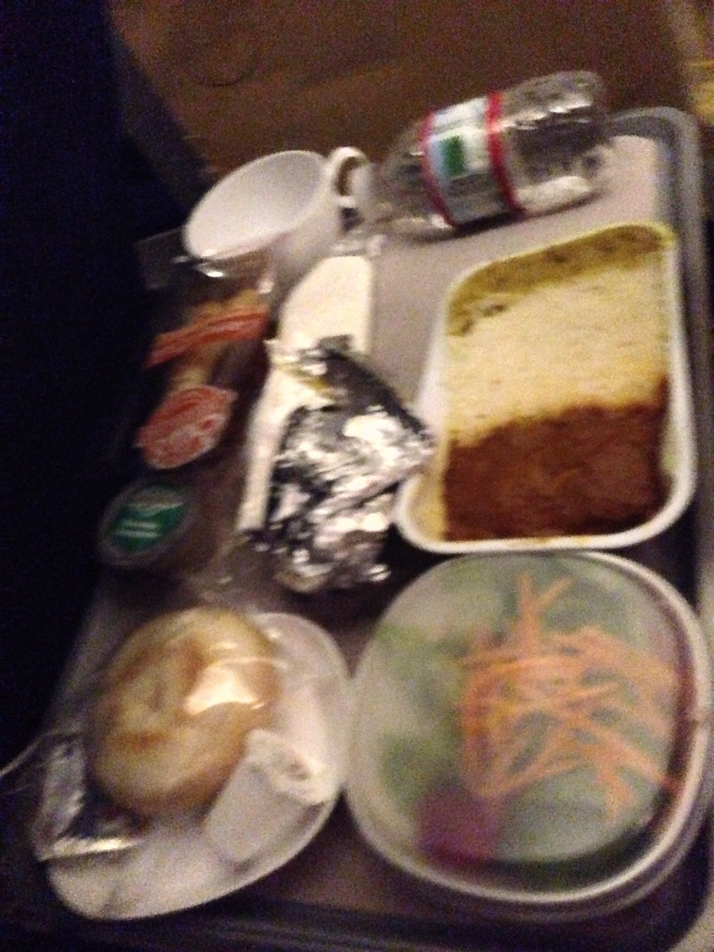 Excuse the bad Iphone picture...but this was our curry chicken dinner. The carrot cake was outstanding.