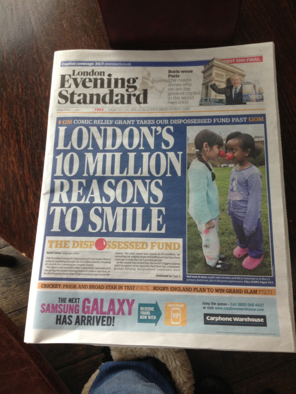 I read the London Evening Standard