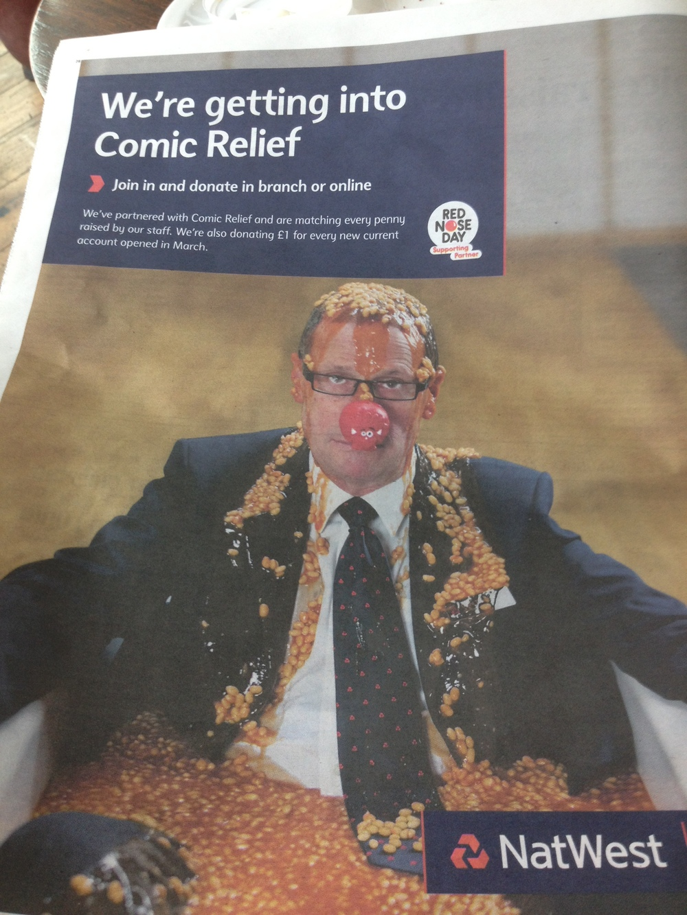 Funny Red Nose Day advertisement