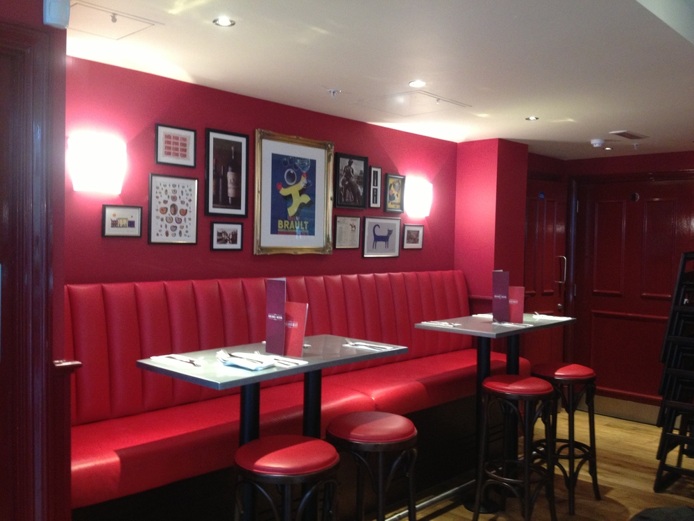 The interior of Cafe Rouge.