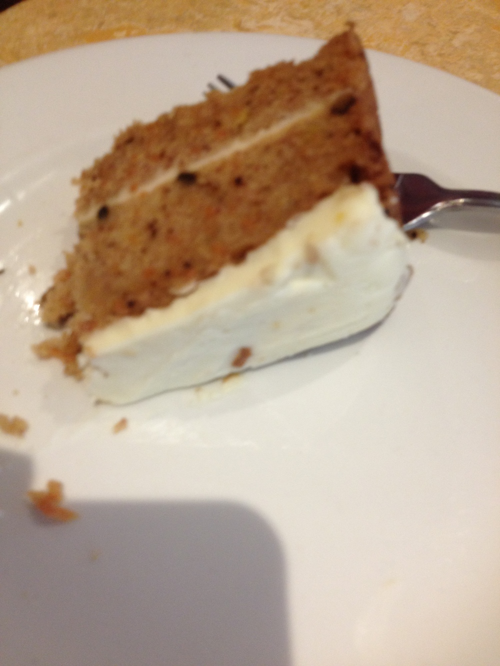 The adults had carrot cake. Yum!