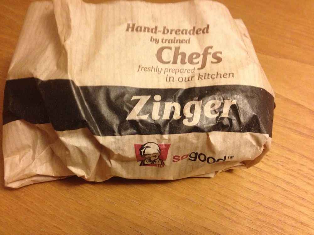 Finally, it's time to try this Zinger Burger.