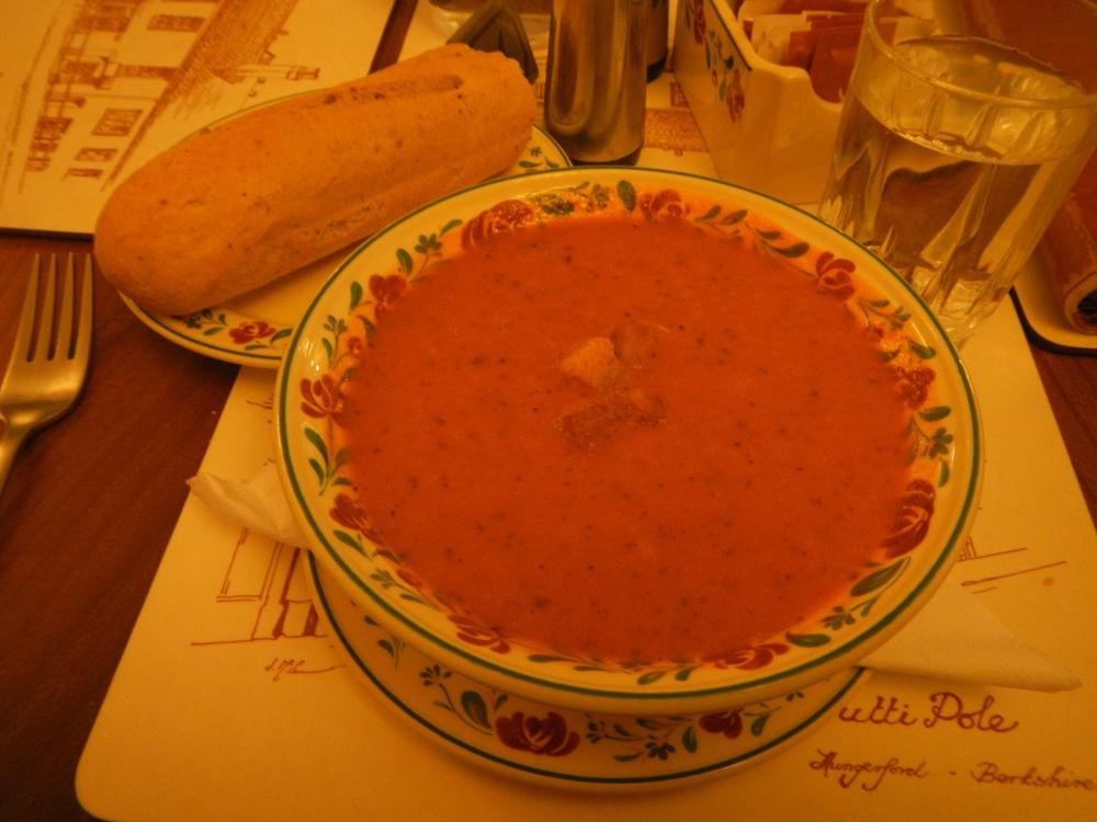 Delicious Tomato-Basil soup.