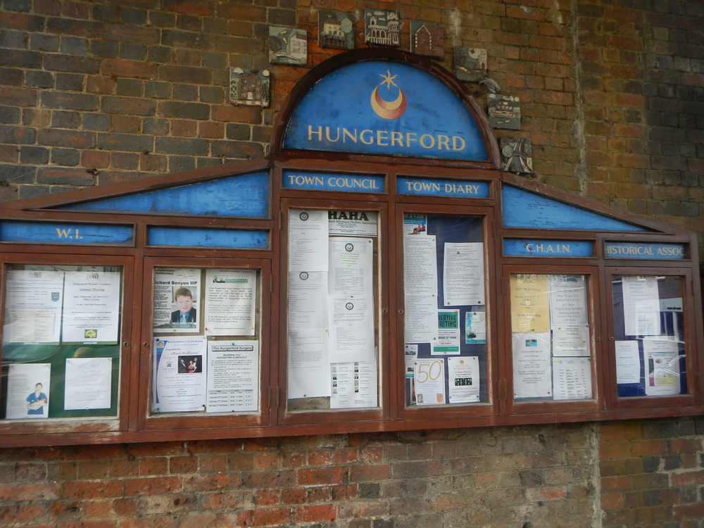 The community events board.
