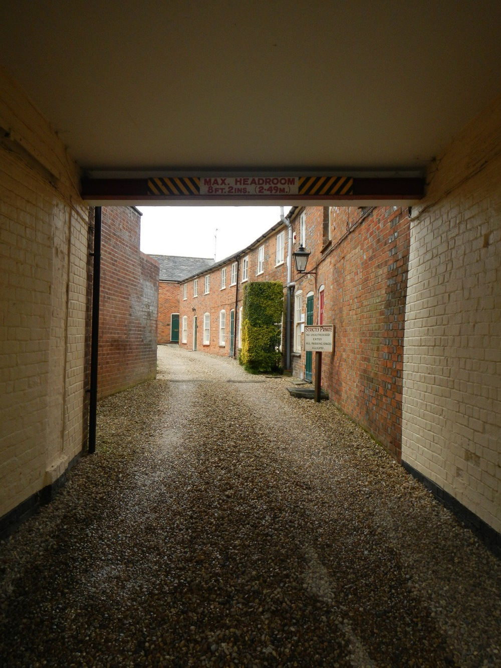 Alley to residential section.