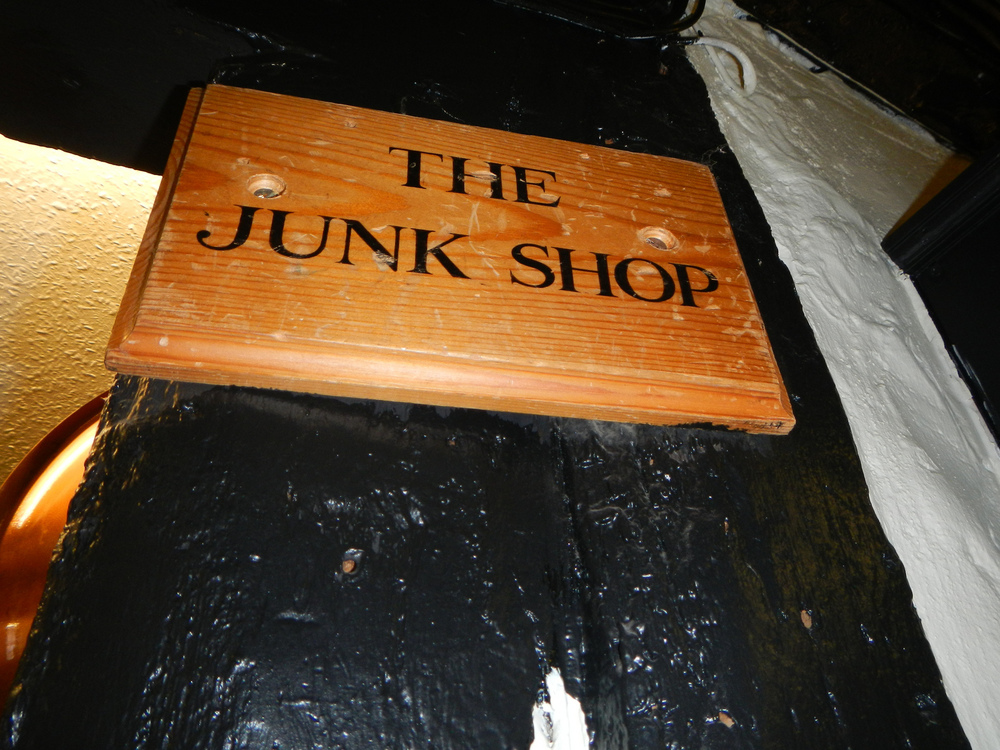 The Junk shop, located in a damp basement.