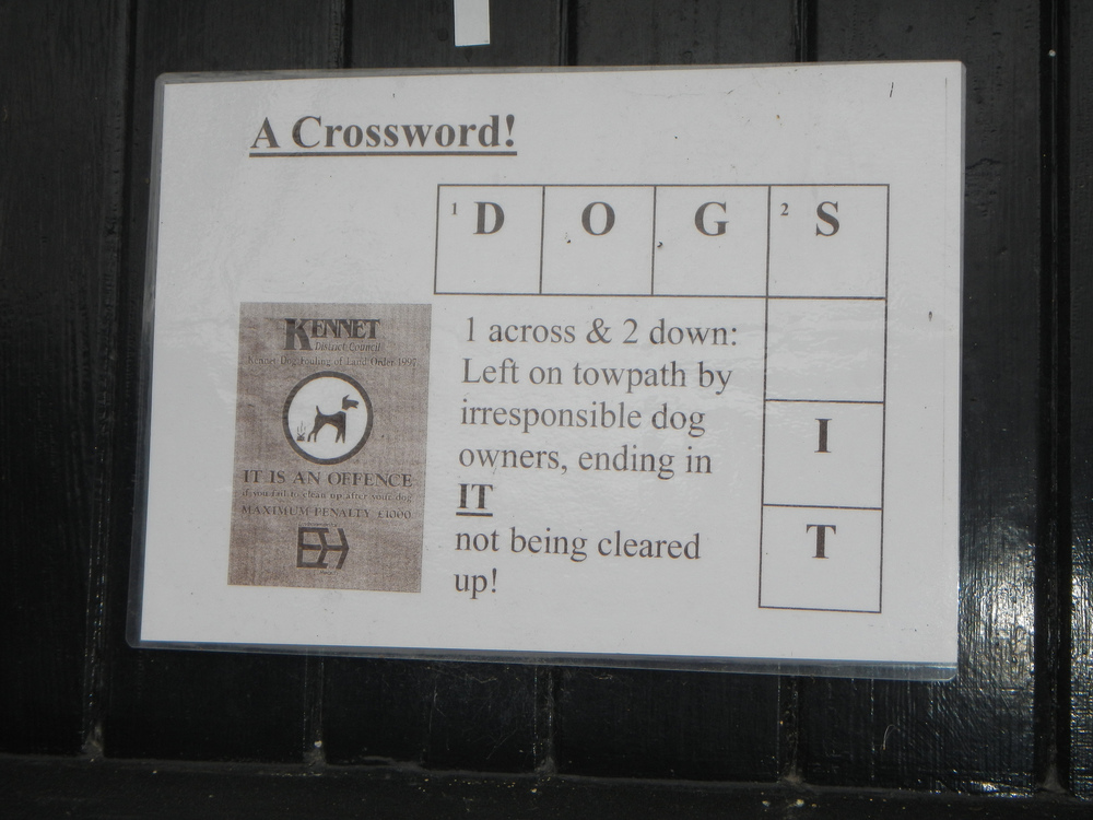 The crossword notice...love it!