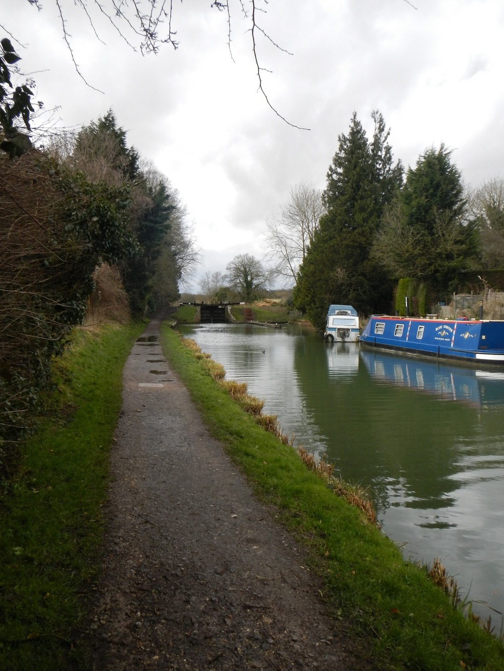 The walking path along the canal.