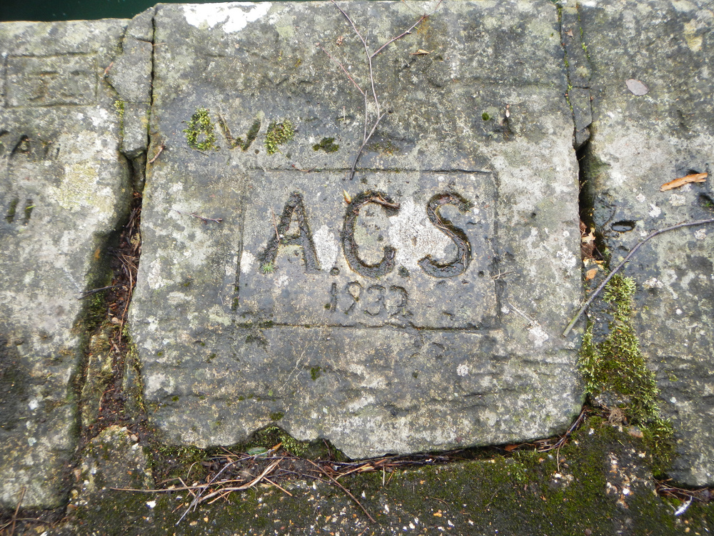 Written in stone near the lock