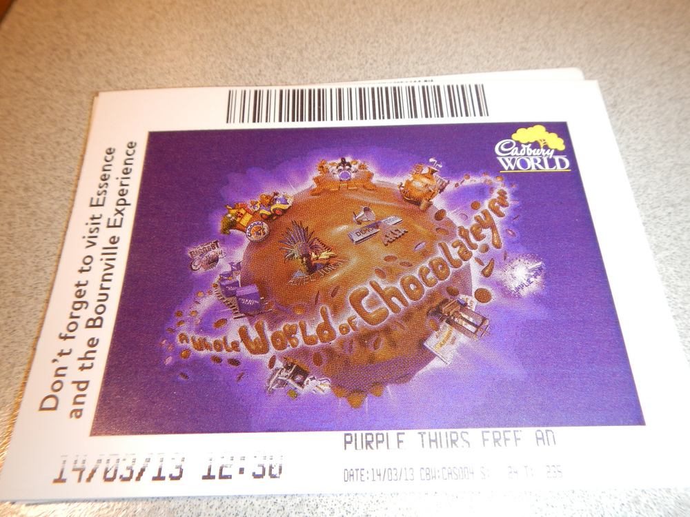 Cadbury World Ticket