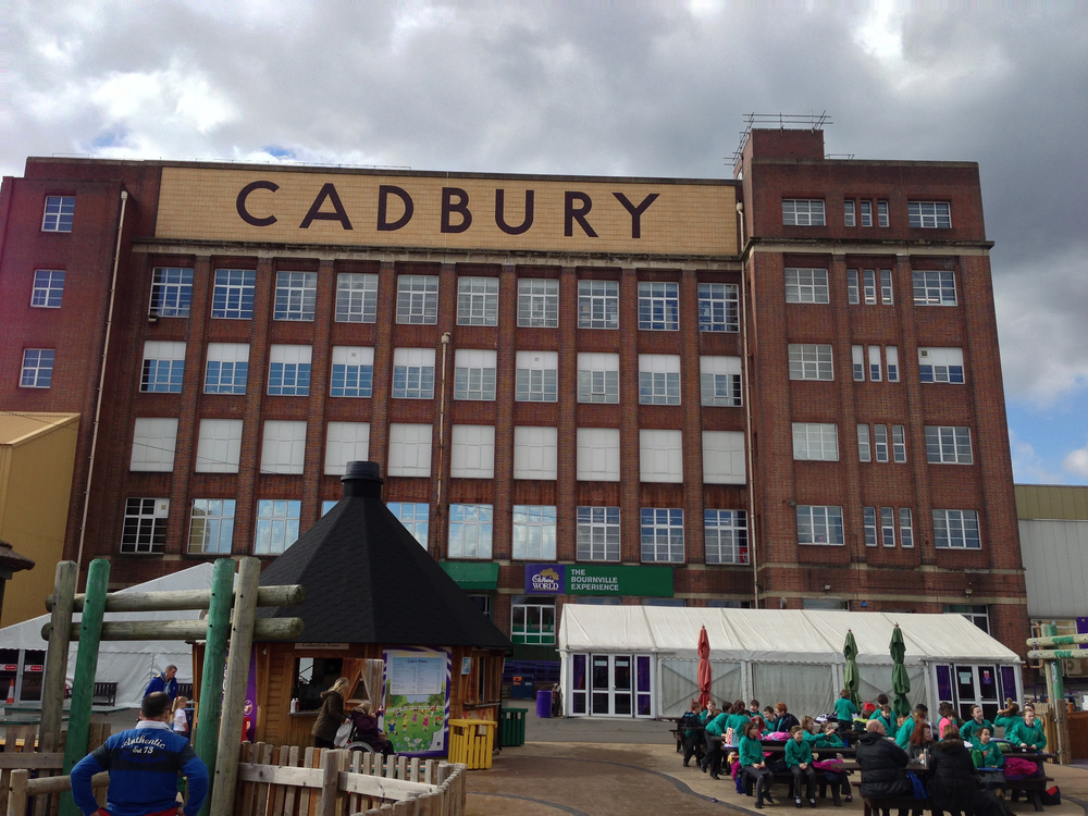 The Cadbury factory and playground.