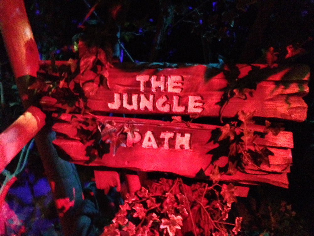 Deep into the jungle..complete with animatronic animals and people.