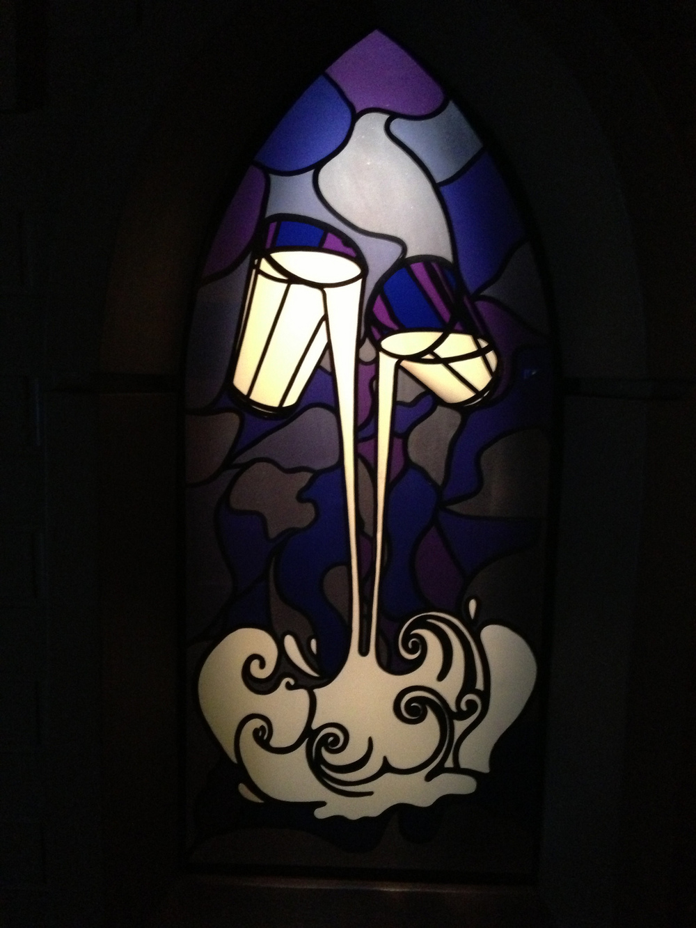 Dairy Milk stained glass.