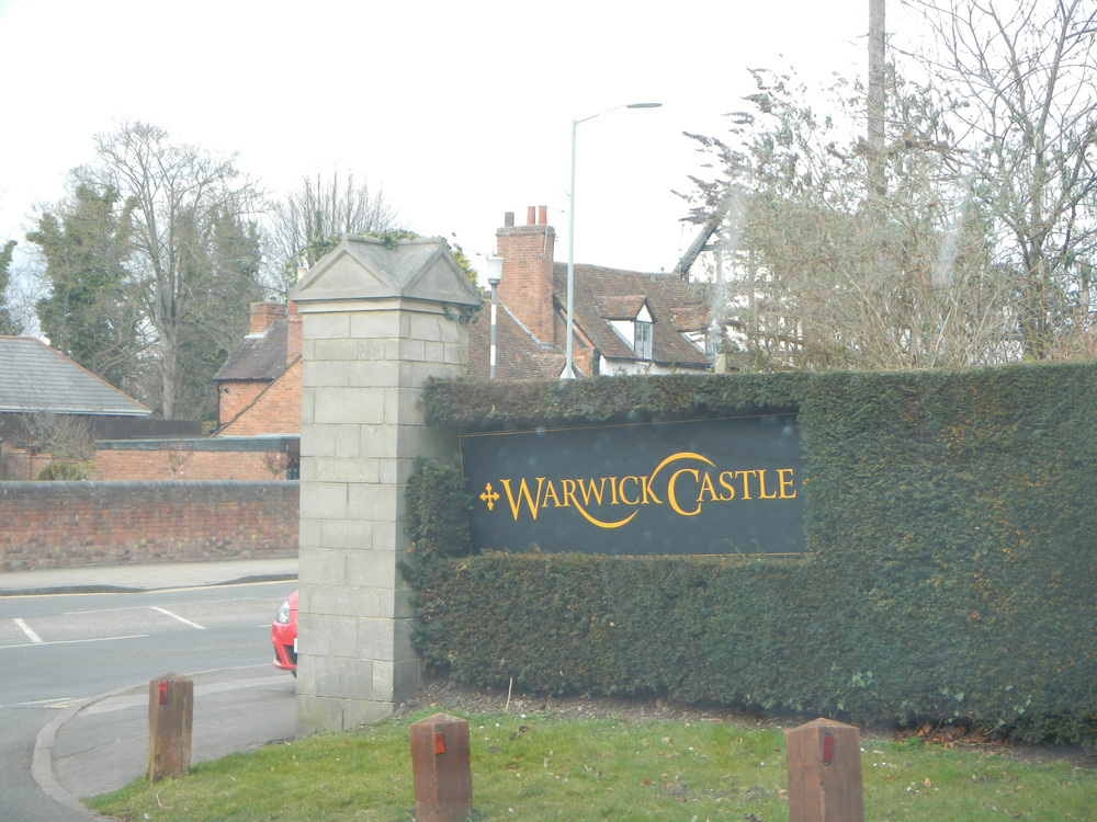 The entrance to Warwick Castle.