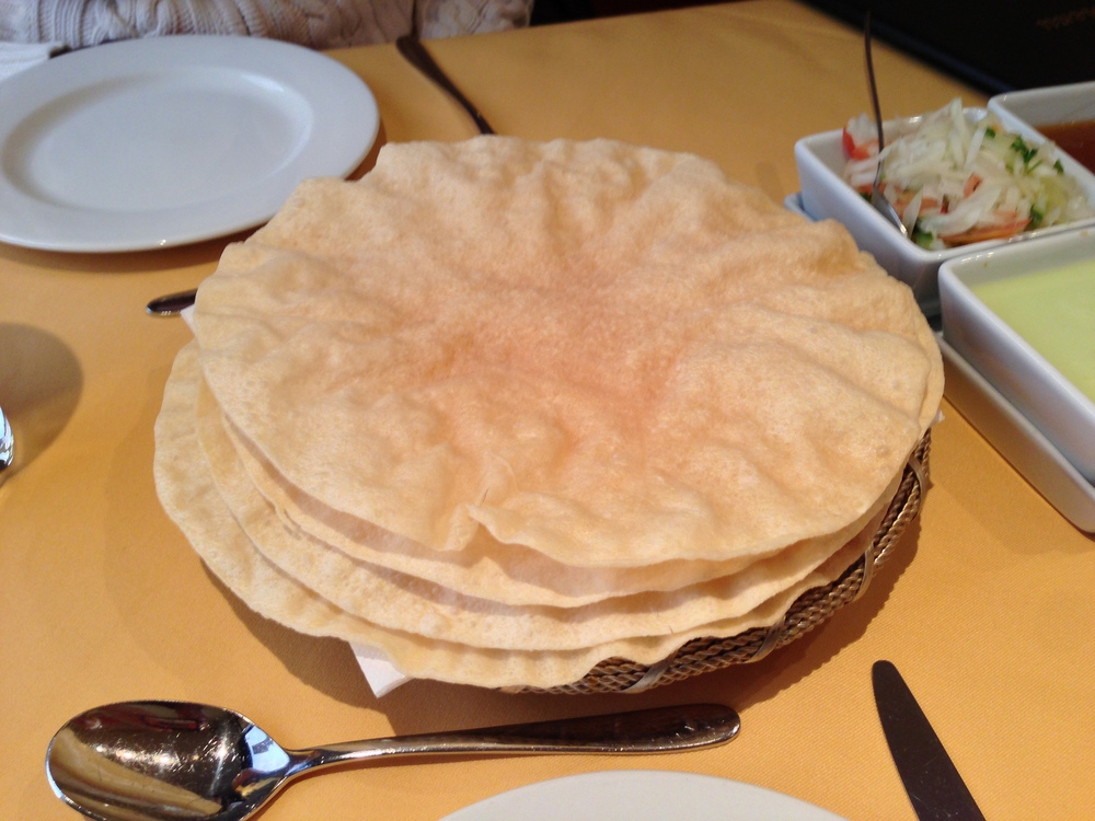 rice poppadom