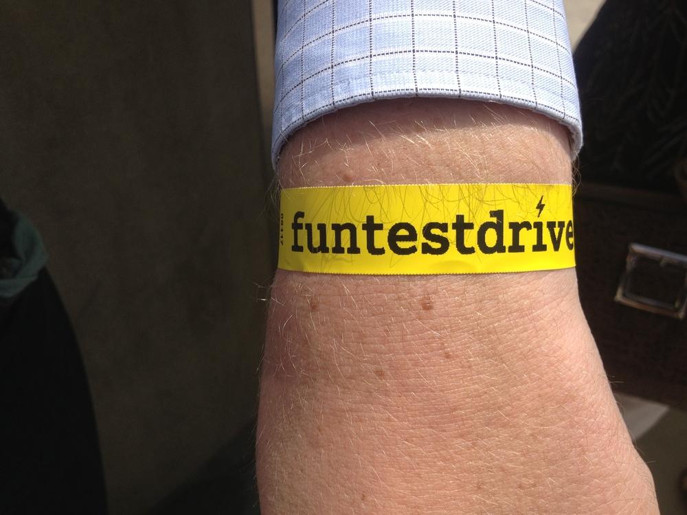 Dan's event wrist band.