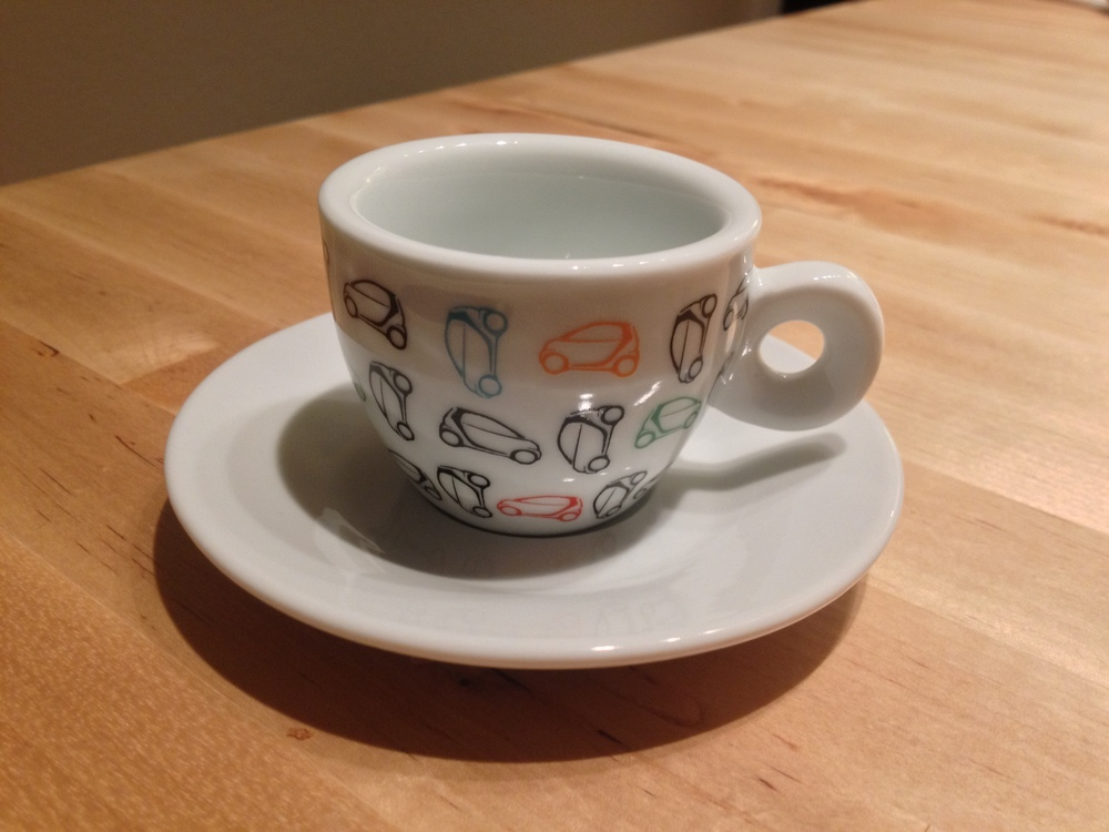 Cute little espresso cup.