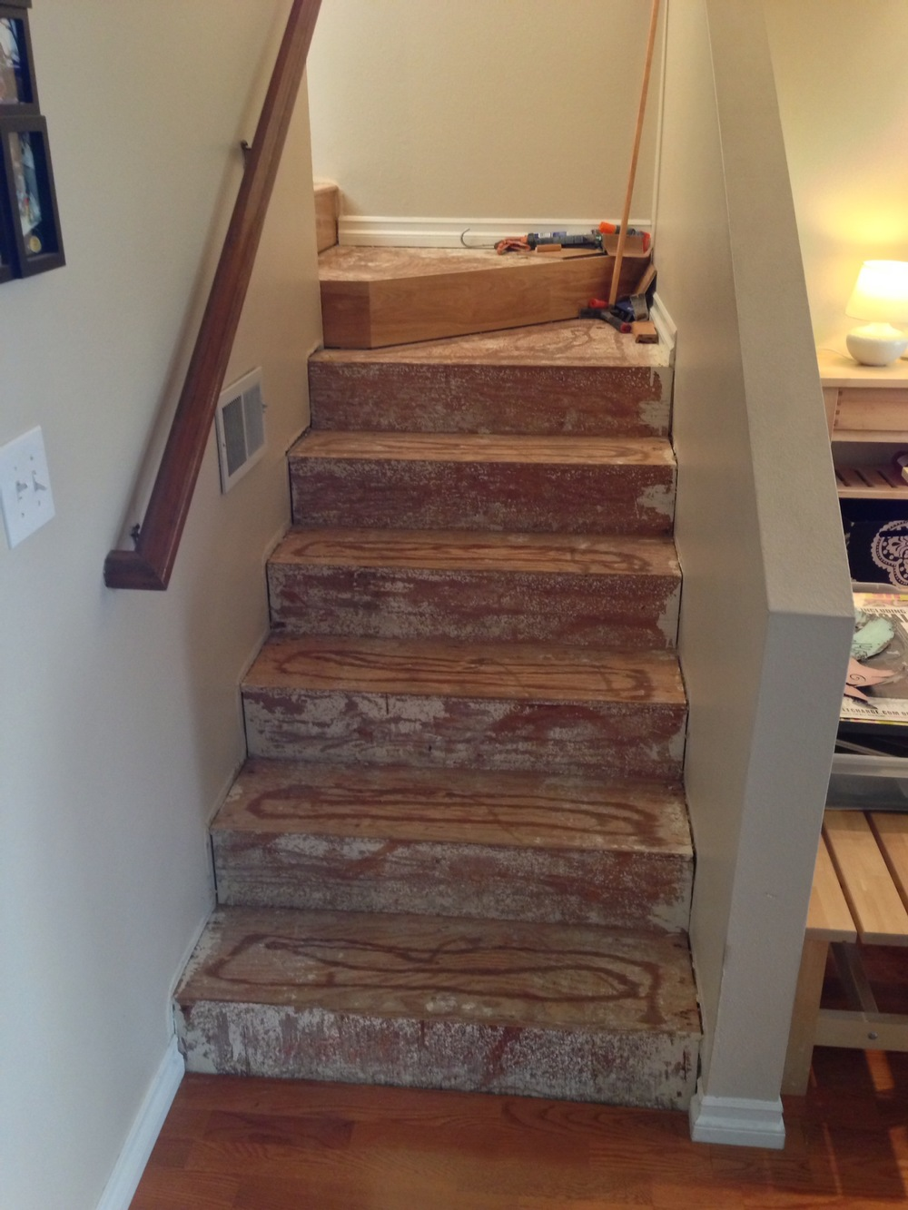 Bare stairs