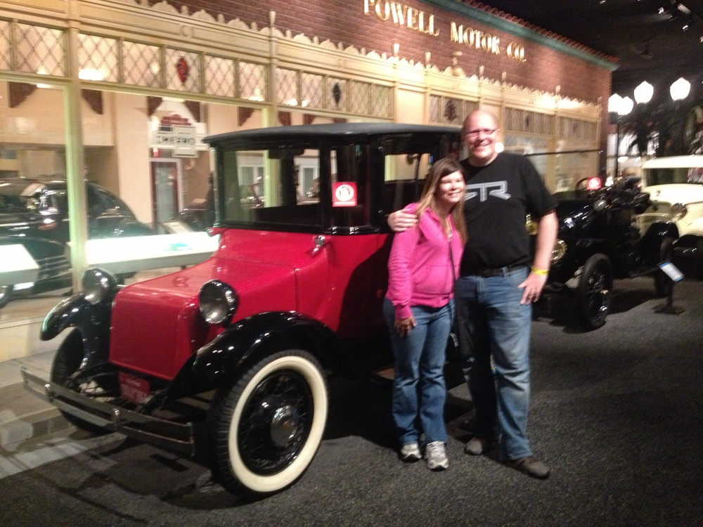 Dan and I with a 1917 Detroit Electric.