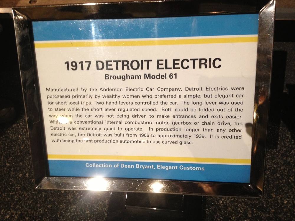 The Detroit Electric info card