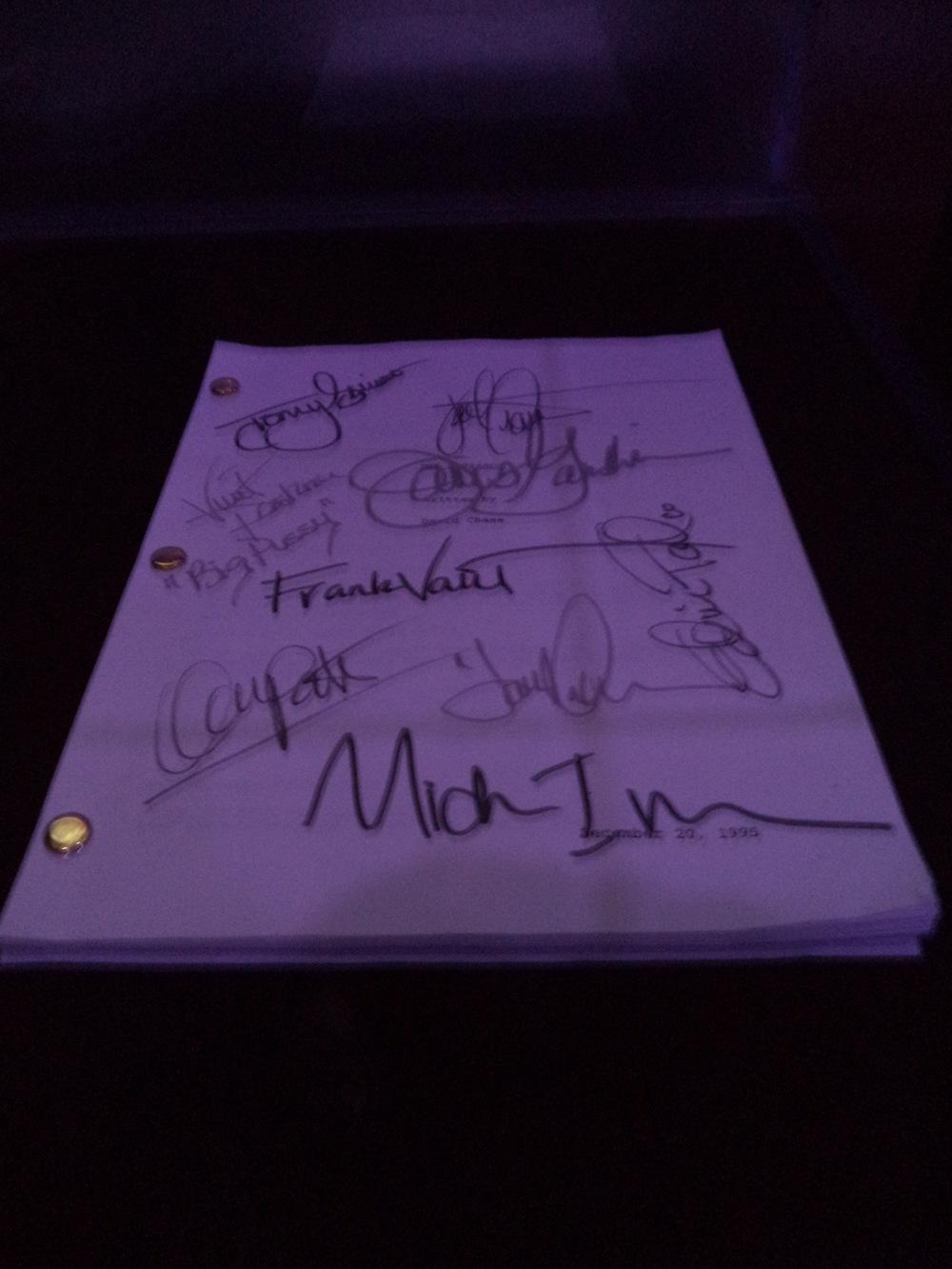 Cast Autographed Sopranos script