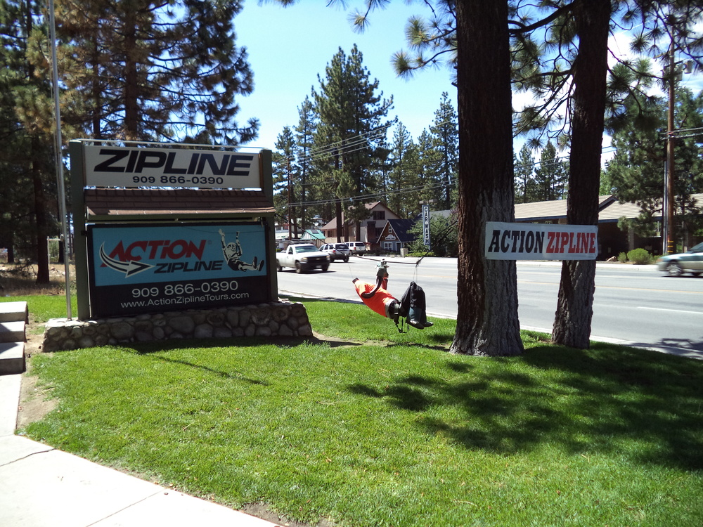 Action Zipline  Office, Big Bear.