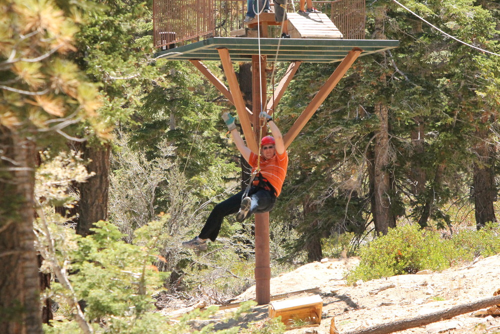 Dan on the zip line!