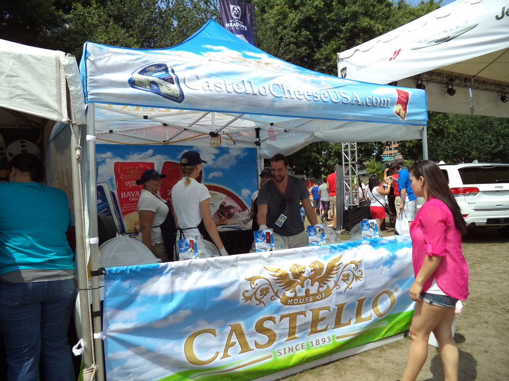 Castello Cheese Booth. Next to the beer tent, cheese is probably the most popular thing at the festival.
