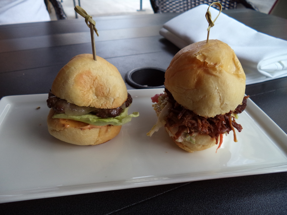 Mini pulled pork and beef burgers from Ringler's Annex Bar.