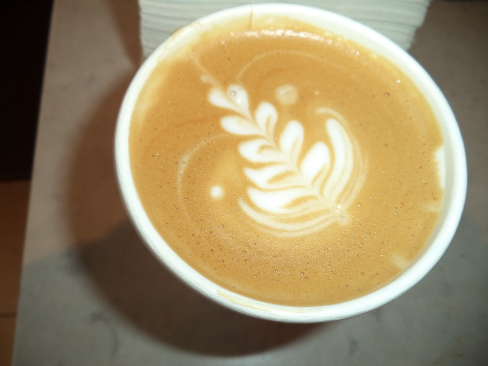 My latte at Stumptown Coffee Roasters.