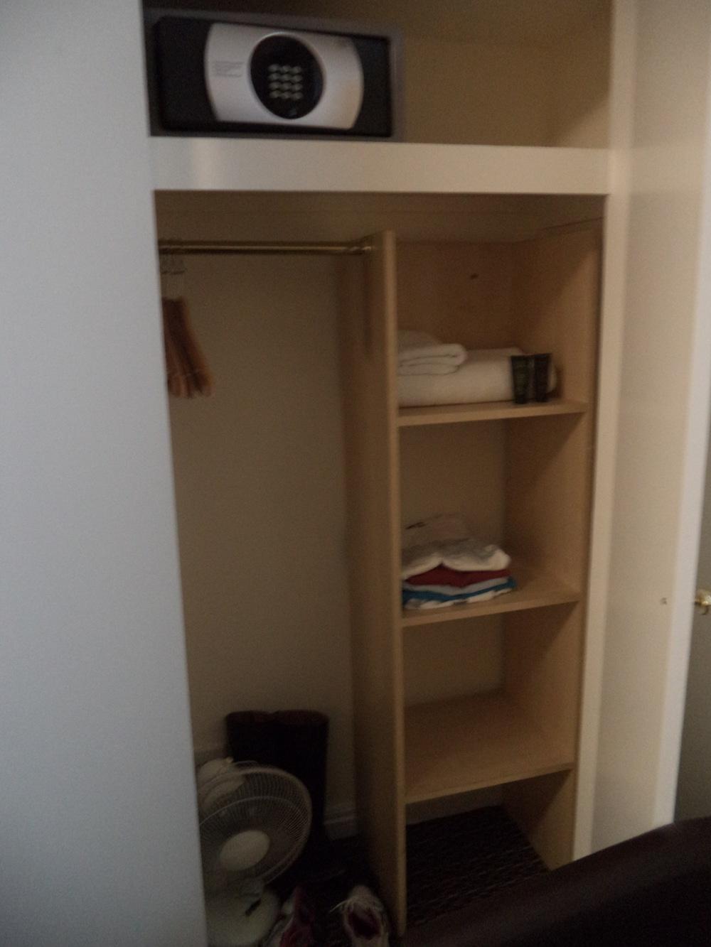 Our closet/shelve space.