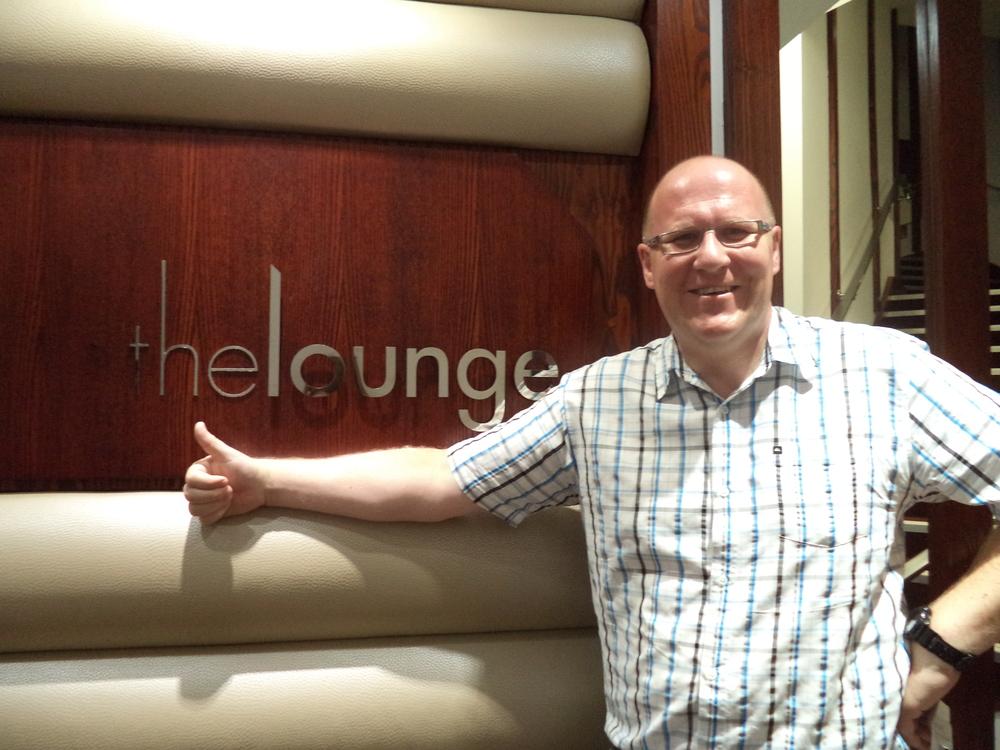 Dan in the Odeon Lounge.