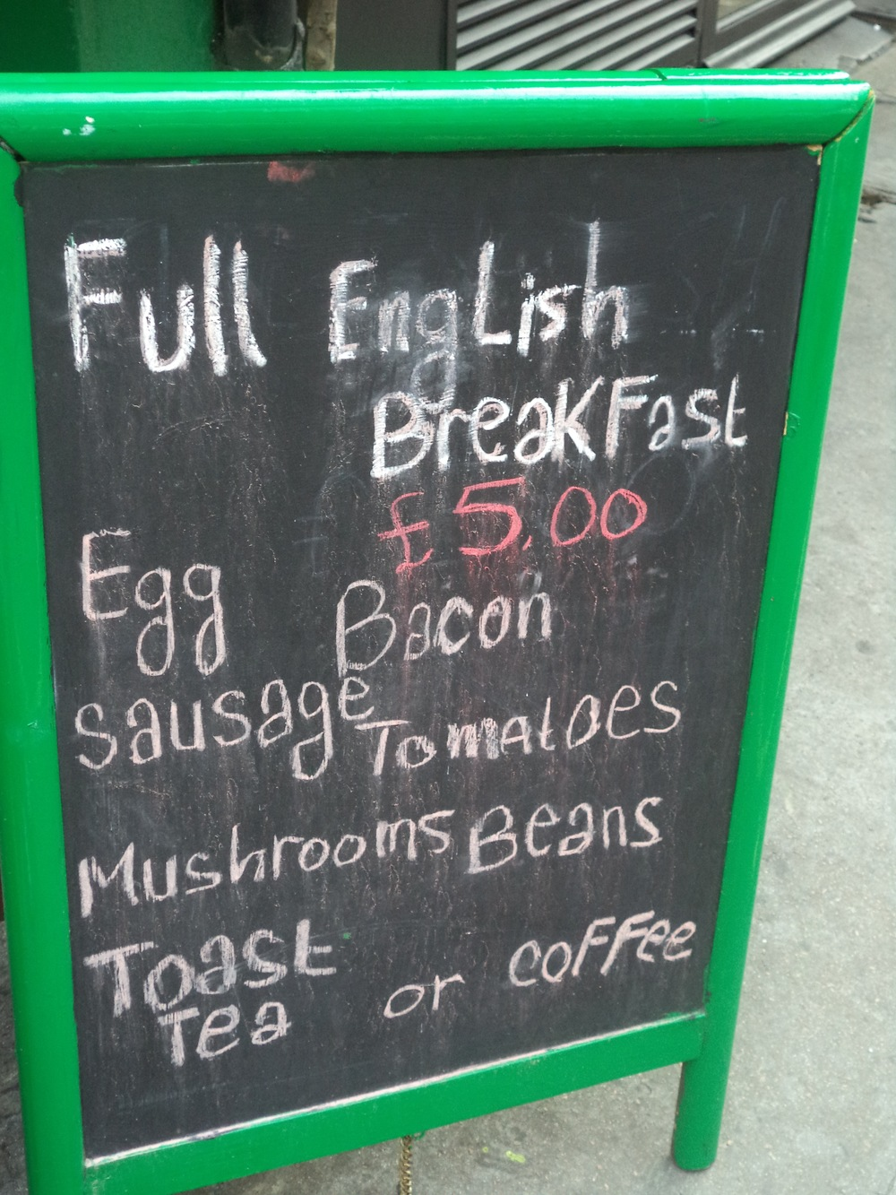 Full English Breakfast Deal