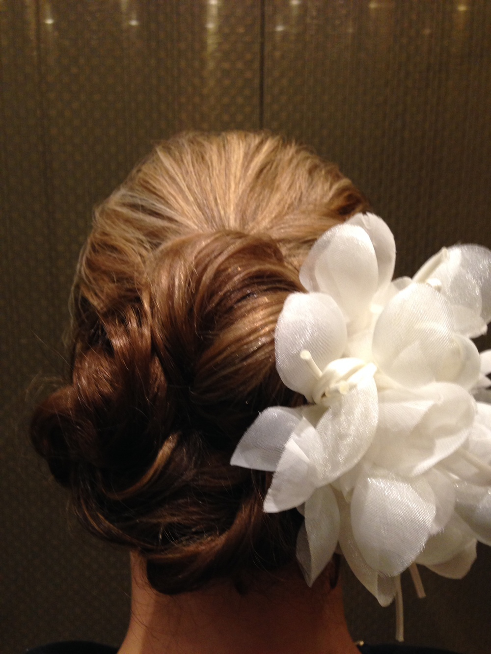 My Wedding up-do by Kristin Koval in Las Vegas,